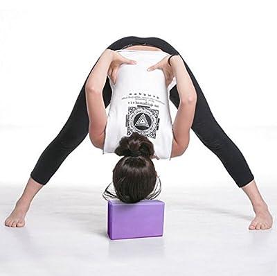 Bellecita Block Pilates Schaumstoff Schaum Yoga Block Backstein Beginn Haushaltsjahr-Tool Dehnung Feder-(blau)