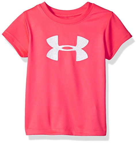 Under Armour Baby Girls Wordmark Logo Short Sleeve Tee, Penta Pink, 12M (Baby-mädchen Armour Under)