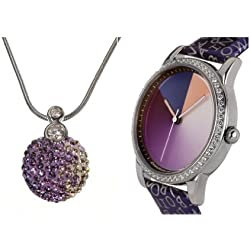 Rainbow e-motion of color Ladies Watch and necklace Avantgardia crystal AV21A- Gift Set-MRcl