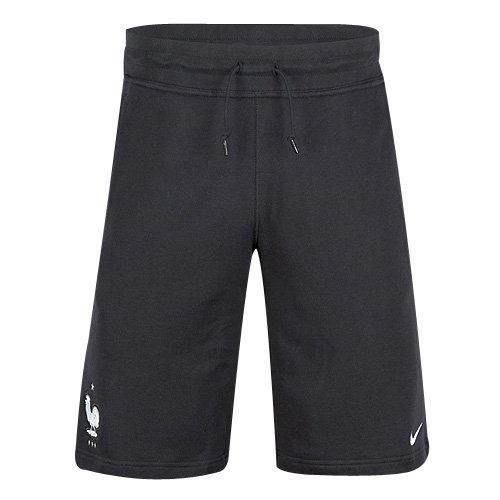 Nike FFF AUTH AW77 Alumni Short Pantalón Corto de la línea Federación Francesa de Fútbol, Hombre, Blanco (Black/White), XL