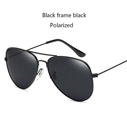 Aprigy Fashion Classic Avaitor polarisierte Sonnenbrille Frauen M?nner Driving Spiegel Pilot Sonnenbrillen Frauen M?nner Marken-Designer Unisex [Schwarz Schwarz]
