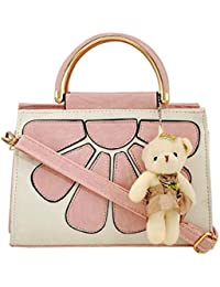 Creative Art Beautiful Synthetic Leather Handbag For Women (Pink)