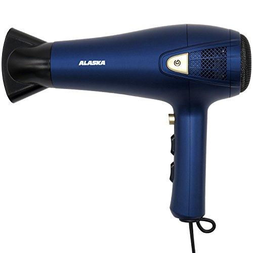 ALASKA Ionen Haartrockner HD 2100 R   Blau   2.100 W   Fön   Föhn   3 Temperaturstufen   2 Gebläsestufen   inkl. Ondulierdüse und Diffusor   Überhitzungsschutz