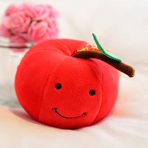 loudi Mini Erdbeere Banane Orange Apfel Wassermelone Kirsche Obst Anhänger Plus Spielzeug 8 cm breit Kirsche -