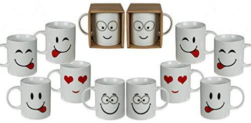 stig Gesichter Emoji Tee Kaffee Becher Tassen Neuheit Heimbüro Geschenk Heiße Schokolade Trinken Becher ()