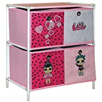 Adorable L.O.L Surprise 4 Drawer Chest - Hearts & Triangles Perfect Storage for Kids Room Toys & Cloths Racks Unit Cabinet