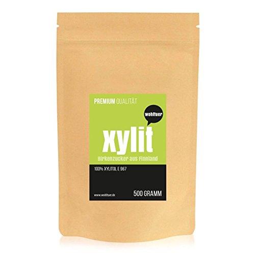 Wohltuer Xylit - Der Echte Birkenzucker aus Finnland 500g | Das Original - garantiert ohne Maiszusatz | Natürlicher Zucker-Ersatz für gesunde Ernährung (Leben Essen Bio-perfekte)