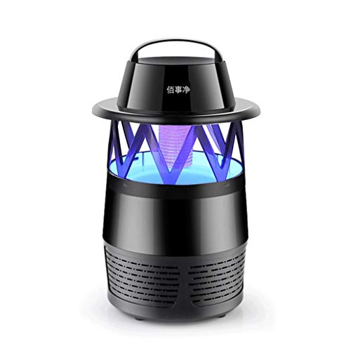 Moskito-Lampe nach Hause Moskito-Abwehrmittel Moskito-Abwehrmittel Moskito-Falle sicher Mückenschutzmittel (Farbe : SCHWARZ)