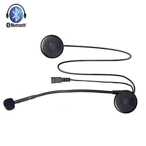 Fodsports Casque de moto Casque sans fil Bluetooth Headset mains libres pour moto Moto Casque Casques écouteurs Microphone MP3 Dédiée Casque Headset