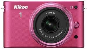 Nikon 1 J2 Systemkamera (10,1 Megapixel, 7,5 cm (3 Zoll) Display) Kit inkl. Nikkor 11-27,5 mm pink