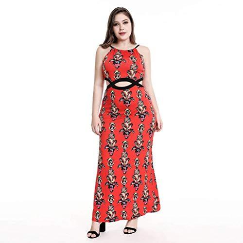 Kleid/Kleid Des Temperaments Der Frau, Art und Weise Elegantes Cocktailabend-Party-Kleid-Abschlussball-Kleid, Beiläufiges Kleid Des Sommers, MingXinJia, rot, 4XL