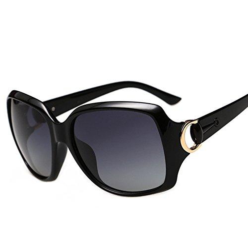 CJ Polarisierte Sonnenbrille der Frauen klassischer Weinlese-Rahmen-Sonnenbrille-treibender Spiegel, 2