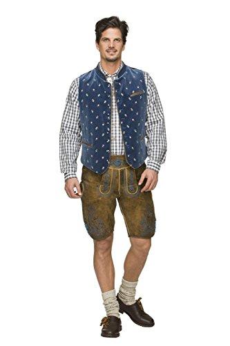 Stockerpoint - Herren Trachten Weste in verschiedenen Farbtönen, Calzado, Größe:56, Farbe:Rauchblau - 2
