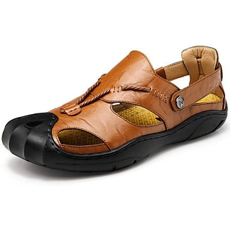SHUAIGUO&Chaussure s  s Homme Marche Homme Chaussures Cuir Bouton Printemps Eté Confort  s Randonnée Bouton Cuir pour... - B07CWPSYC8 - 5e1baf