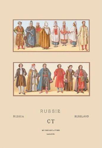Russi Historische Figuren und beliebte Kostüme # 212x 18Giclée auf Leinwand von - Historische Figur Kostüm