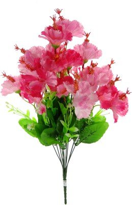 Fourwalls 46 cm tall Artificial Hibiscus Bunch with 20 flower heads