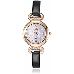 Armbanduhren Leder Modeschmuck Uhr Damen Hera Schwarz Geschenk Damen
