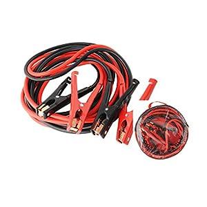 lvl25 LEVEL25 Cables Pinzas batería Alta Potencia, Arranque Coche o Moto, 4 Metros, 800A máx. 1200A, Incluye Funda Transporte.