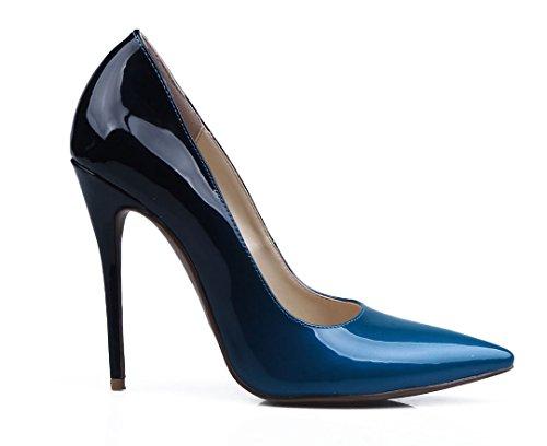 TDA - Sandali con Zeppa donna Blue-Black