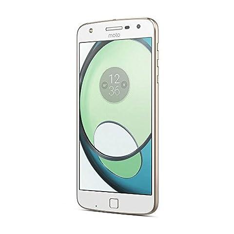 Lenovo SM4425AD1U1/XT1635 Smartphone Moto Z Play Dual SIM 32GB, 14 cm (5,5 Zoll), Android 6.0 Marshmallow weiß