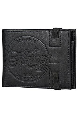 Portafogli 2 Billabong Bi-fold con CC, nota e tasche Coin ~ Bloccato nero