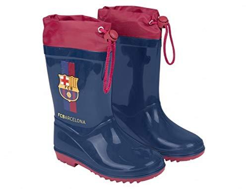 FC Barcelona Wellington Boots with Drawstring Barca Rain Boots