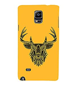 Indian Deer Graphics 3D Hard Polycarbonate Designer Back Case Cover for Samsung Galaxy Note 4 N910 :: Samsung Galaxy Note 4 Duos N9100