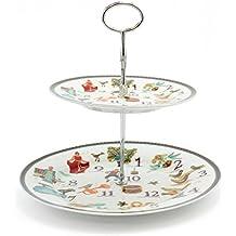 The Leonardo Collection - Soporte para Tarta de Navidad (12 días de Navidad, Porcelana