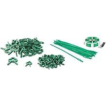Silverline Pflanzenhalter 50-tlg Satz Pflanzenhalter Pflanzenklammern Ringe