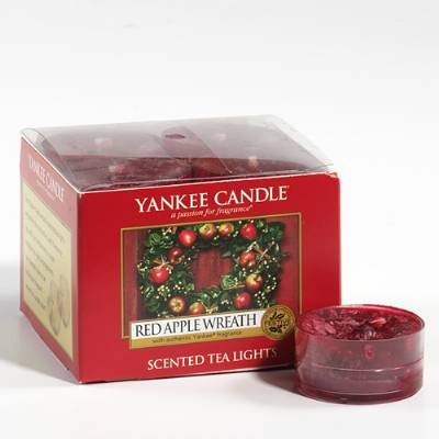 Yankee Candle Red Apple Wreath Tealights (Box of 12) by Yankee Candle