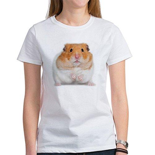 Hamster mit Blume Pets Women'T-Shirt, dunkel (Blumen-womens Dunklen T-shirt)