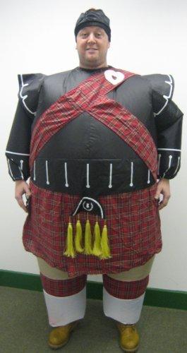 Aufblasbare Schottische Dudelsackspieler Kostüm