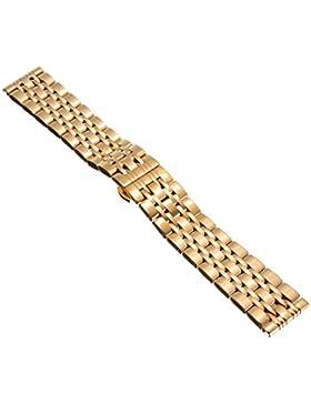 18/20/22mm Herren Damen Gold Stahl Edelstahl Quarz Wrist Uhren-Armband Uhrenarmbänder Uhrband Watch Band Watch...