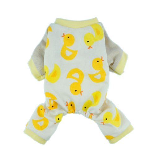 Fitwarm? Duck Dog Pajamas Dog Clothes Dog Jumpsuit Pet Cat Pjs, Medium by Fitwarm