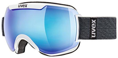 Uvex downhill, 2000 fm, occhiali da sci, unisex, downhill 2000 fm, bianco, taglia unica