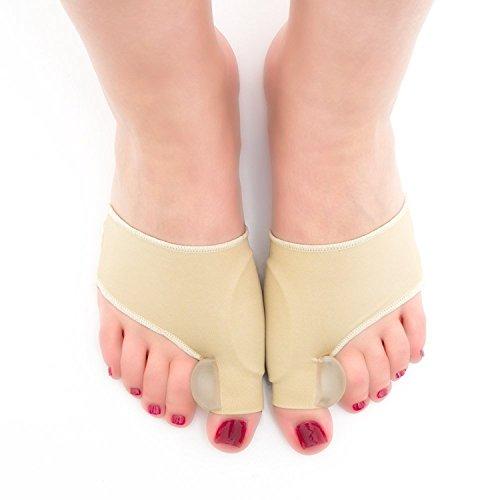 Correttore alluce, msure comodo silicone gel big toe separatore di calze, taglia unica piedi