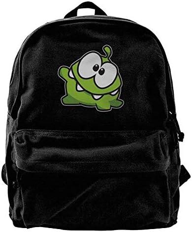 xinyanghongda Om Nom Nom,Funny Advanced Black Canvas Backpacks School Backpack for Teenager B07KXP4TTG | Outlet Store Online