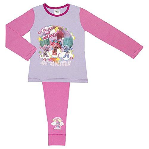 Trolls Pijama para niñas - Varias Tallas (4-10 Años)
