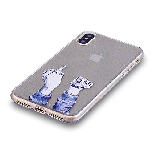 Slynmax Ultra Thin TPU Cover per iPhone X Custodia Silicone Caso Molle di Morbido Sottile Gel Transparent Bumper Case Protettiva Caso Chiaro Copertura Slim Thin Skin Shell Protezione per iPhone X Soft Modello #8