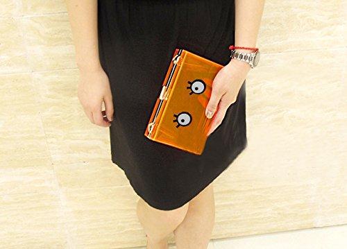 Zarapack acrilico trasparente da donna multi Neon Color Borsa Catena Borsa A Tracolla Perspex borsetta Frizione, Style 6 (trasparente) - BA935 Style 6