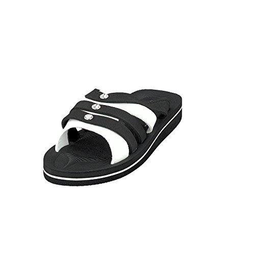 Siebi's PLAGE Diamants Tongs de piscine Mules et Chaussures décontractées Femmes Noir - Noir