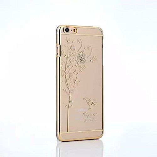 iPhone 5 Hülle,iPhone 5S Hülle,iPhone SE Hülle,EMAXELERS Hard PC Case Phone Holster Transparent Handy-Tasche Hülle für Apple iPhone 5/5S/SE Hülle Löwenzahn Pattern Etui Schlank Fest Hülle Diamond Blin Goldbaum