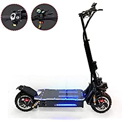 LJPW Trottinette électrique Adultes Pliable, Moteur Puissant De 1600W Trottinettes Electriques Tout-Terrain Autonomie De 70 Km, Vitesse Maximale De 85 Km/h, pour Adultes Et Adolescents