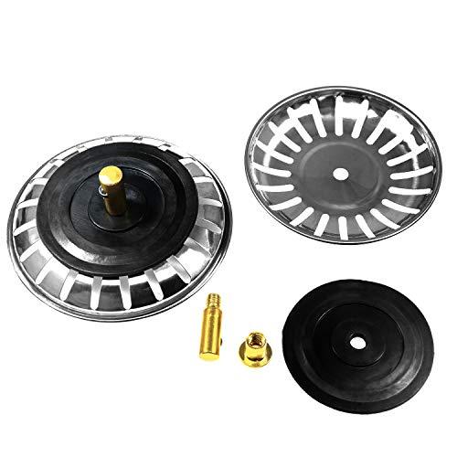 7.8 cm Durchmesser Edelstahl Spüle Sieb Küche Spüle Sieb Plug Silber Tone, 2 Stück (Küche Spüle Restaurant)