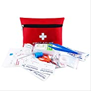 First Aid Kit Pouch, 13 Pieces Compact Waterproof Mini Emergency Bag Survival Kit for Home, Office, Vehicle, T