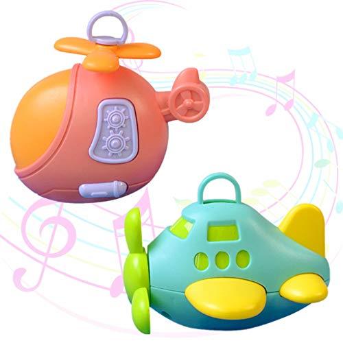 Junlinto, Hohe Qualität Infant Baby Spielzeug Flugzeug Handbells Rasseln Beißring Baby Bett Kinderwagen Hängen Kleinkind Newbron Geschenk Gelegentliche Anlieferung