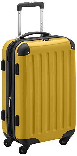 HAUPTSTADTKOFFER - Alex - Handgepäck Hartschalen-Koffer Trolley Rollkoffer Reisekoffer Erweiterbar, 4 Rollen, 55 cm, 42 Liter, Gelb
