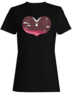 Día de San Valentín s con forma de corazón camiseta de las mujeres h191f