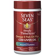 Seven Seas Omega-3 Fish Oil Plus Cod Liver Oil Plus Multivitamin 90 Capsules.118 gm