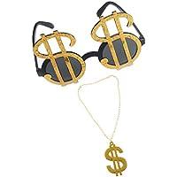 a6725431a2635 MagiDeal Gafas de Sol con Collar Colgante Accesorios Fiesta Fotomatón  Gracioso Brillante Bling